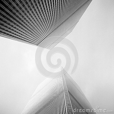Twin Towers Editorial Stock Photo