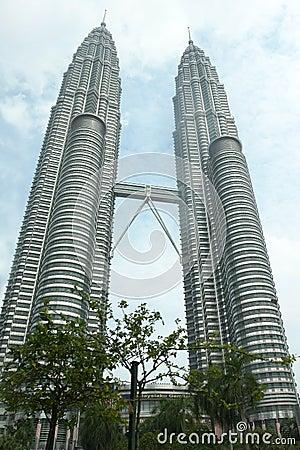 Twin Towers in Kuala Lumpur Malaysia