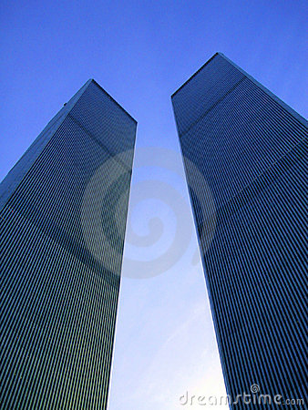 Twin Towers New York Editorial Photo