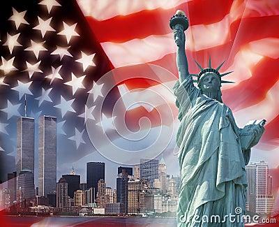 Twin Towers - New York - Patriotic Symbols