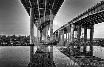 Twin Viaducts Royalty Free Stock Photos - Image: 25224968