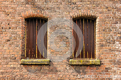 Twin windows in storehouse
