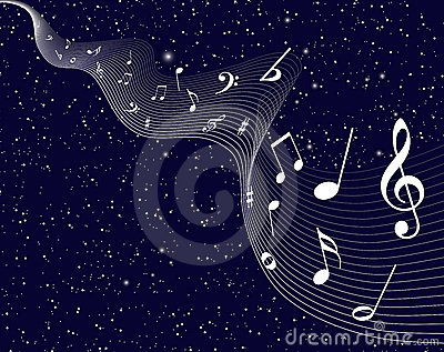 Twinkle stars with music notes