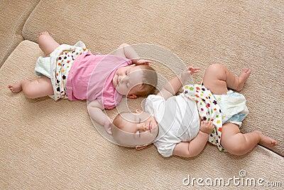 twins baby girls sleeping