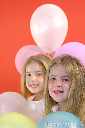 Twins happy birthday balloons
