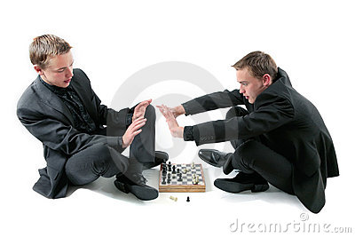 Twins play a chess