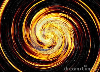 Twirl of bright explosion flash on black backgrounds. fire burst