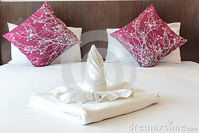 Twist towel and pillow