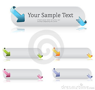 Free Twisted Arrow Button Stock Photo - 23641400