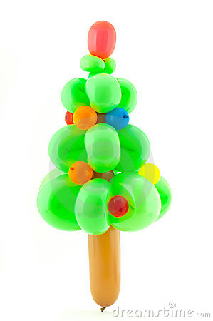 Free Twisted Balloon Christmas Tree Royalty Free Stock Photos - 16653078