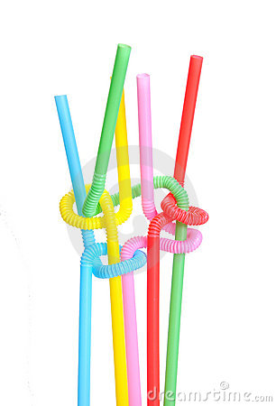Free Twisted Colored Straws Stock Images - 7086284