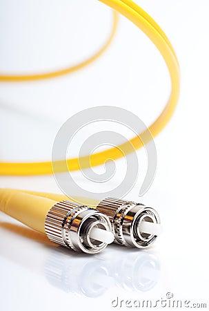 Twisted fiber optic