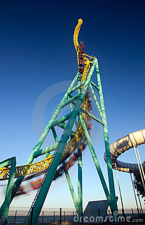 Twisted roller coaster ride