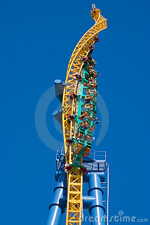 Twisted Rollercoaster Royalty Free Stock Images - Image: 5518459