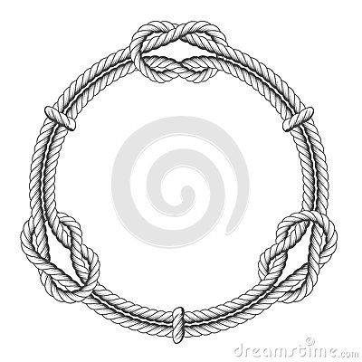 Free Twisted Rope Circle - Round Frame And Knots Royalty Free Stock Image - 90579866