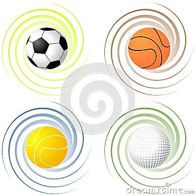 Twisted sport balls