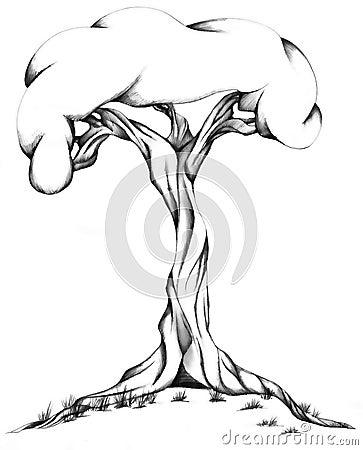 Twisted Tree Illustration