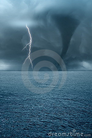 Free Twister On The Ocean Stock Image - 20067161
