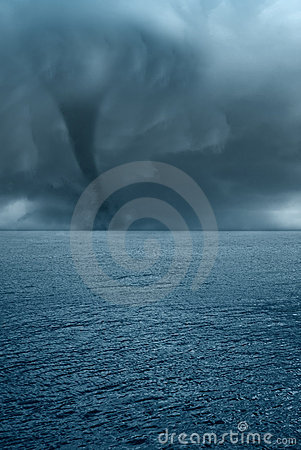Twister on the sea