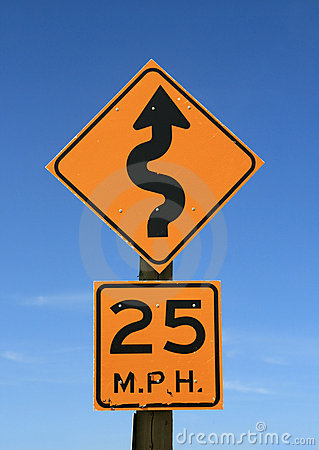 Free Twisty Road Sign Stock Photo - 18370550