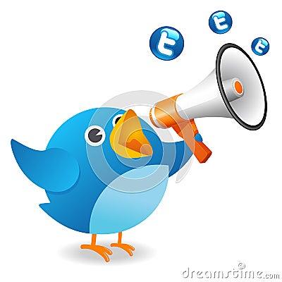 Twitter птицы Редакционное Фотография