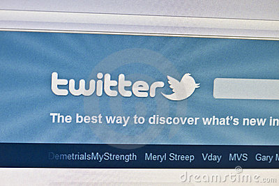 Twitter Editorial Stock Photo