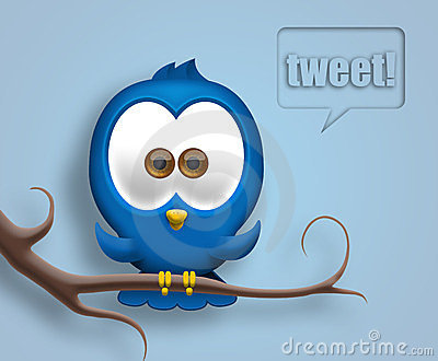 Twitter bird Editorial Stock Image