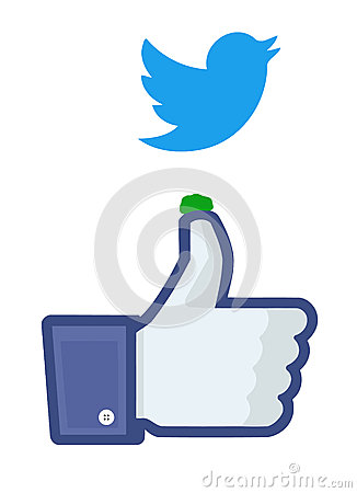 Free Twitter Bird Droppings On Facebook S  Royalty Free Stock Photo - 32046485