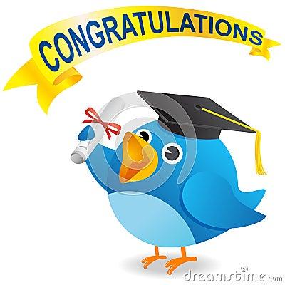 Free Twitter Bird Graduate Royalty Free Stock Photo - 15837925