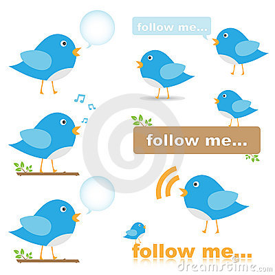 Free Twitter Bird Icons Royalty Free Stock Photo - 20122765