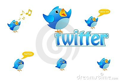 Twitter bird icons Editorial Photography