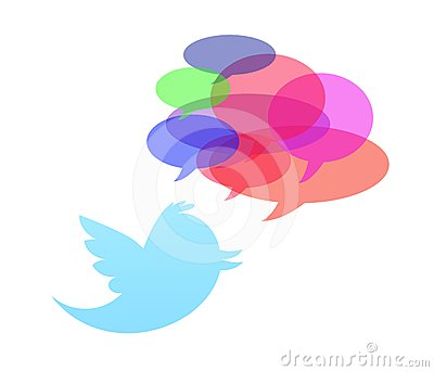 Twitter bird isolated in white background Editorial Photo