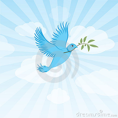 Twitter bird - peace dove
