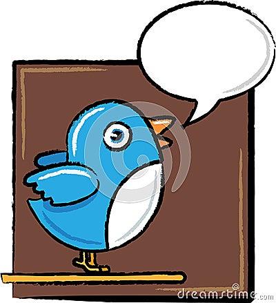 Twitter Bird in Sketch