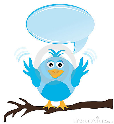 Twitter bird with speech bubble
