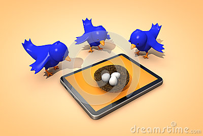 Twitter Birds Stock Photo - Image: 26390640