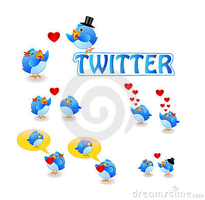 Twitter birds love Editorial Stock Photo