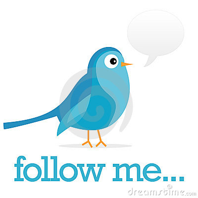 Free Twitter Blue Bird With Comments Bubble Stock Photos - 10046013