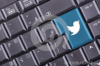 Twitter button Editorial Image