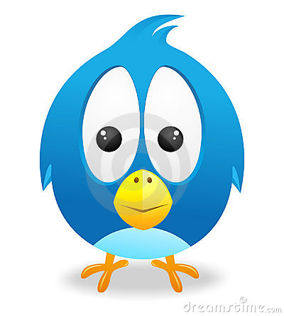 Free Twitter Cute Bird Vector Stock Image - 23157171