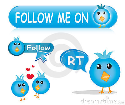 Twitter icon & button set