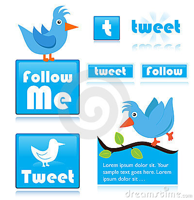 Twitter icons Editorial Stock Image
