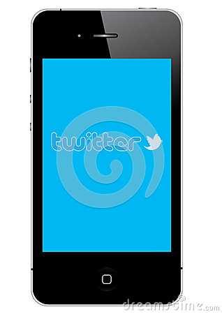 Twitter on IPhone 4S Editorial Image