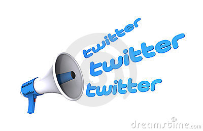 Twitter megaphone Editorial Stock Photo