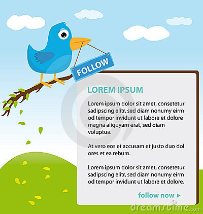 Twitter theme design Editorial Stock Photo