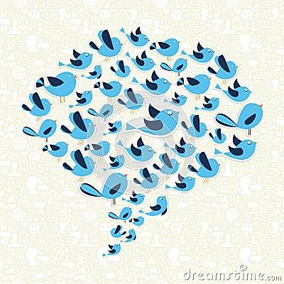 Twitting social birds campaign