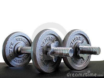 Two of 2.5X2 Kg dumbbells