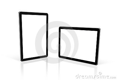 Two 3D computers, digital Tablet pc, tv screen