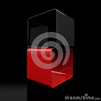 Two 3d cubes