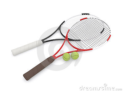 Two 3d tennis rackets